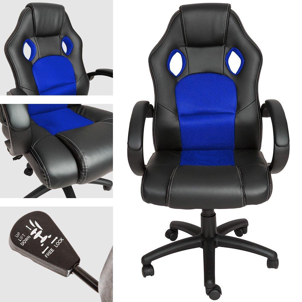 TecTake Racing Chefsessel blau